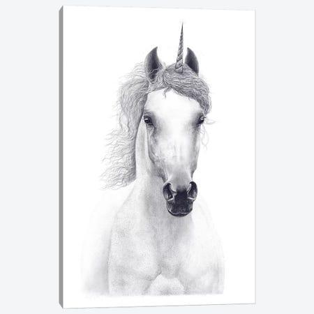 White Unicorn Canvas Print #VAK78} by Valeriya Korenkova Canvas Art