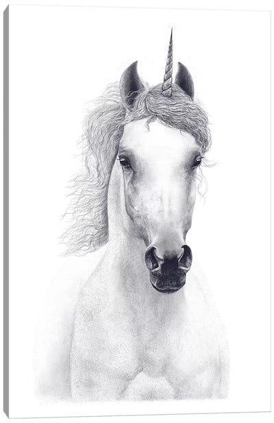 White Unicorn Canvas Art Print