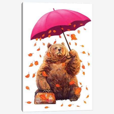 Autumn Bear Canvas Print #VAK79} by Valeriya Korenkova Canvas Wall Art