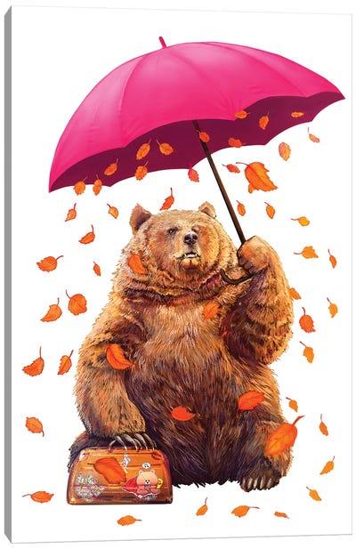 Autumn Bear Canvas Art Print