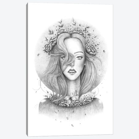 Blooming Girl Canvas Print #VAK85} by Valeriya Korenkova Canvas Artwork