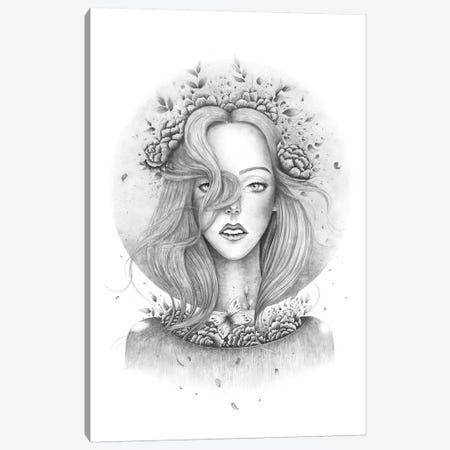 Blooming Girl Canvas Print #VAK85} by Valeriya Korenkova Canvas Artwork