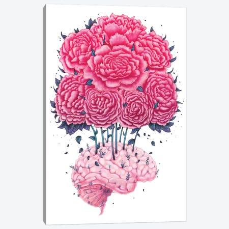 Brain With Peonies Canvas Print #VAK87} by Valeriya Korenkova Canvas Art