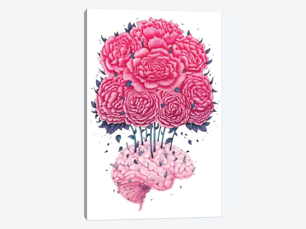 Brain With Peonies by Valeriya Korenkova 1-piece Canvas Art Print