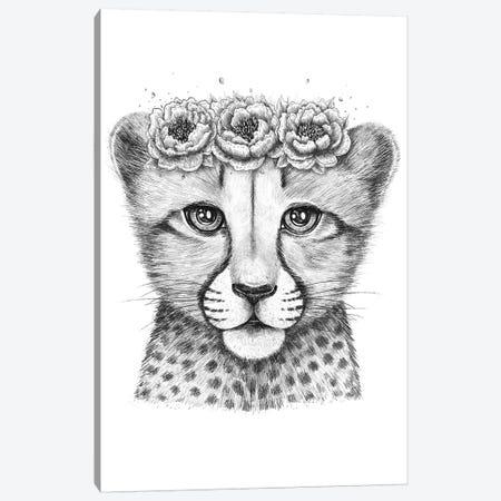 Cheetah Cub Canvas Print #VAK88} by Valeriya Korenkova Canvas Art Print