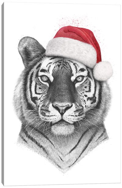 Christmas Tiger Canvas Art Print
