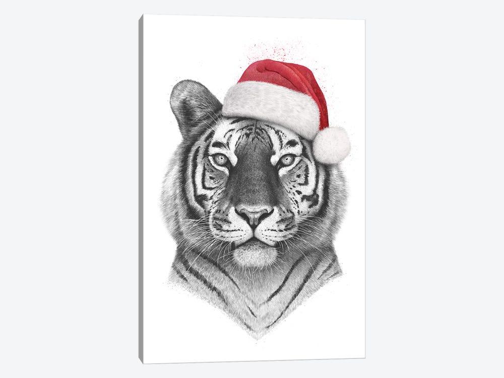 Christmas Tiger by Valeriya Korenkova 1-piece Canvas Art