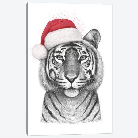 Christmas Tigress Canvas Print #VAK92} by Valeriya Korenkova Canvas Artwork