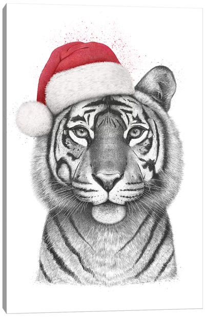 Christmas Tigress Canvas Art Print