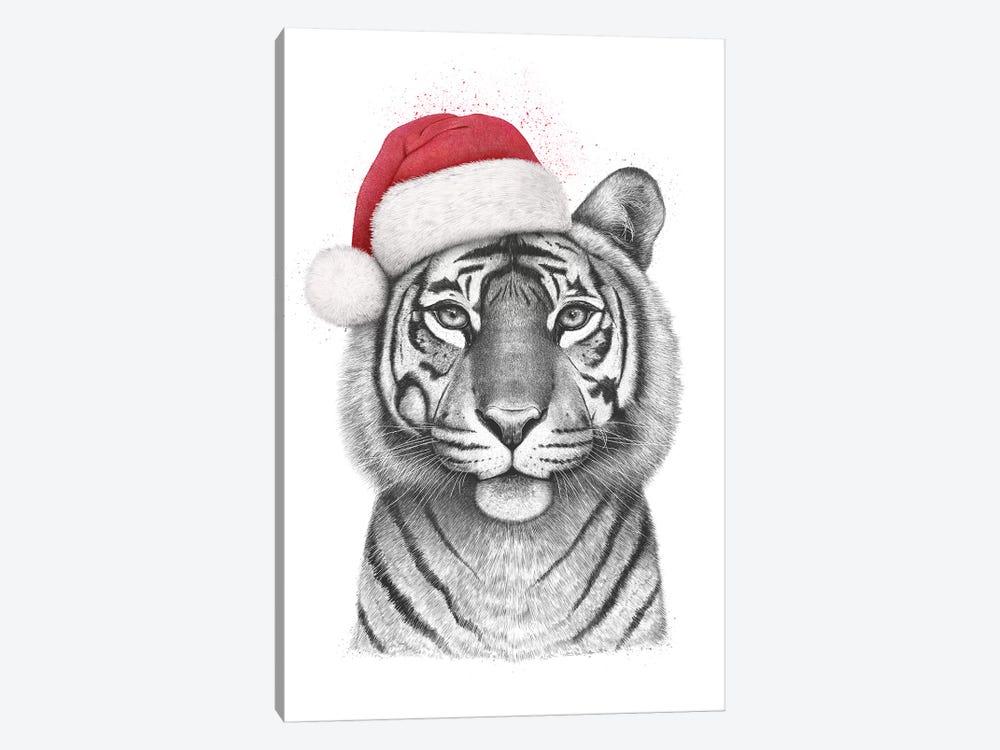 Christmas Tigress by Valeriya Korenkova 1-piece Canvas Art Print