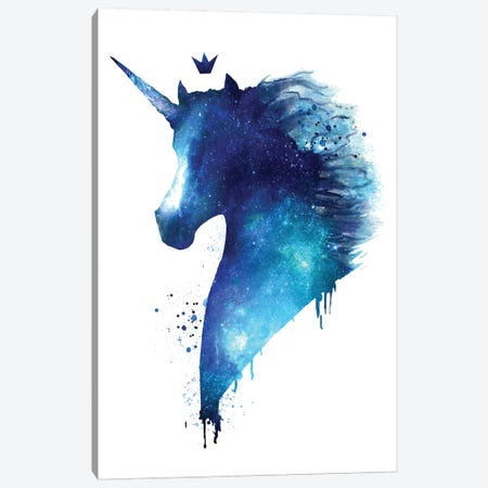 Cosmic Unicorn Canvas Print #VAK94} by Valeriya Korenkova Canvas Art Print
