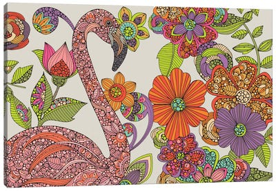 Flamingo Puzzle Canvas Print #VAL103