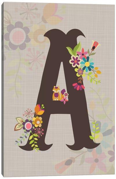 Floral Alphabet Series: A Canvas Print #VAL104