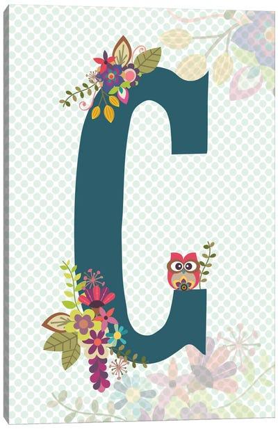 Floral Alphabet Series: C Canvas Print #VAL106