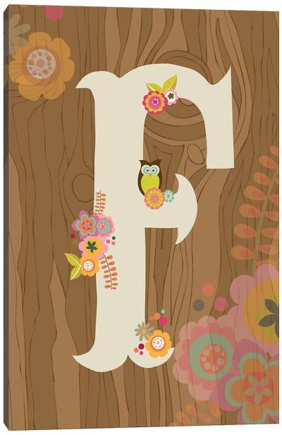 Floral Alphabet Series: F Canvas Print #VAL109