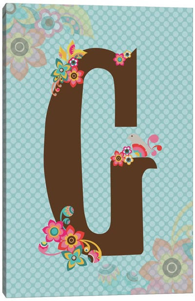 Floral Alphabet Series: G Canvas Print #VAL110