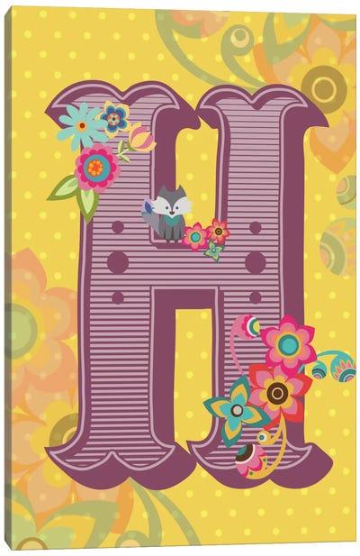 Floral Alphabet Series: H Canvas Print #VAL111