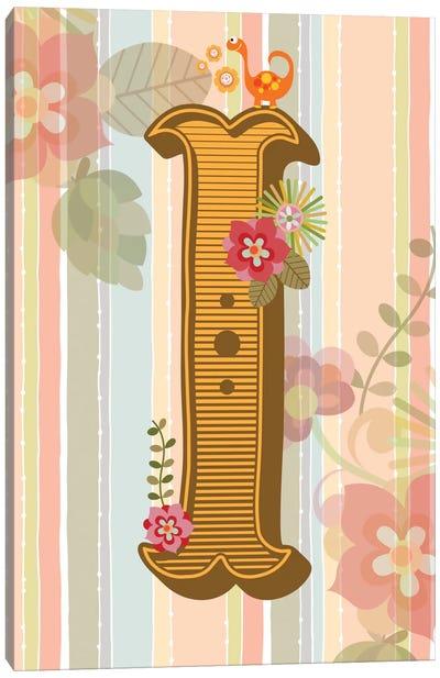 Floral Alphabet Series: I Canvas Print #VAL112