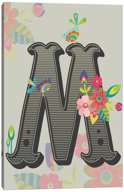 M Canvas Art Print