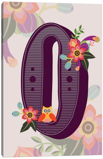 Floral Alphabet Series: O Canvas Art Print