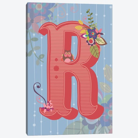 R Canvas Print #VAL121} by Valentina Harper Canvas Artwork