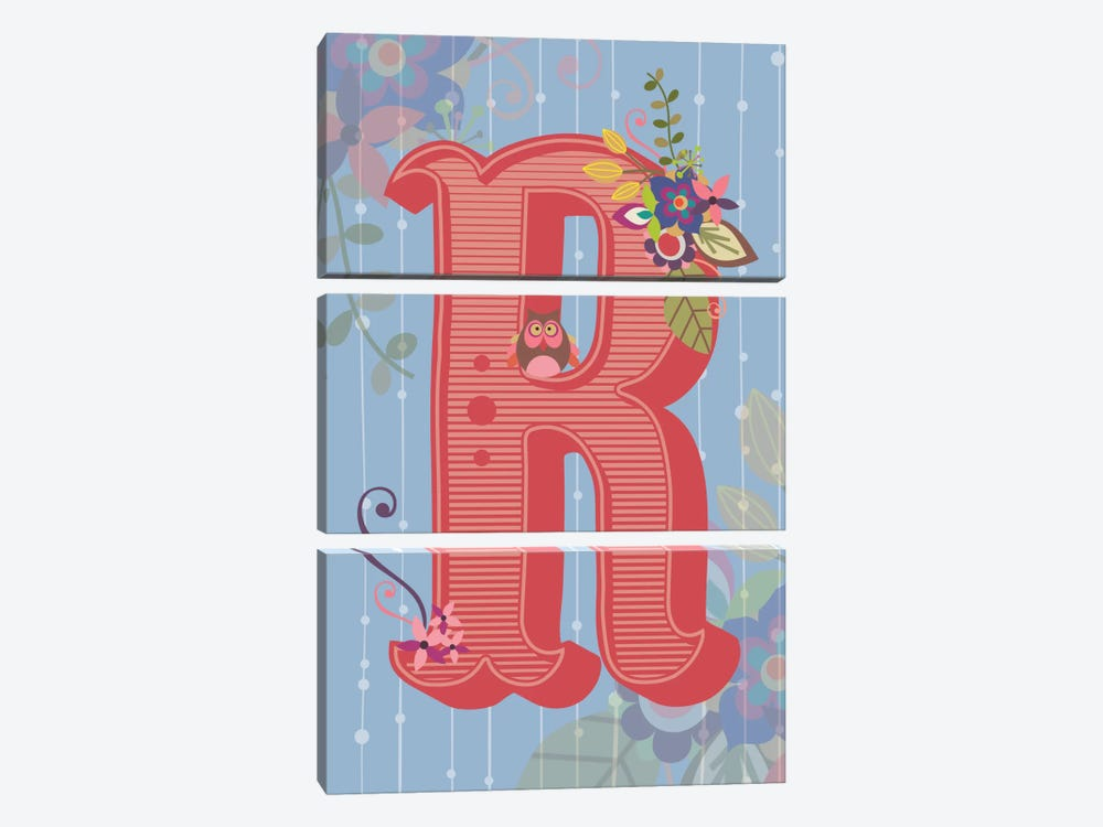 R by Valentina Harper 3-piece Canvas Art Print
