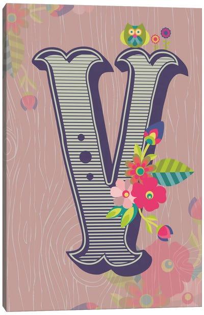 V Canvas Art Print