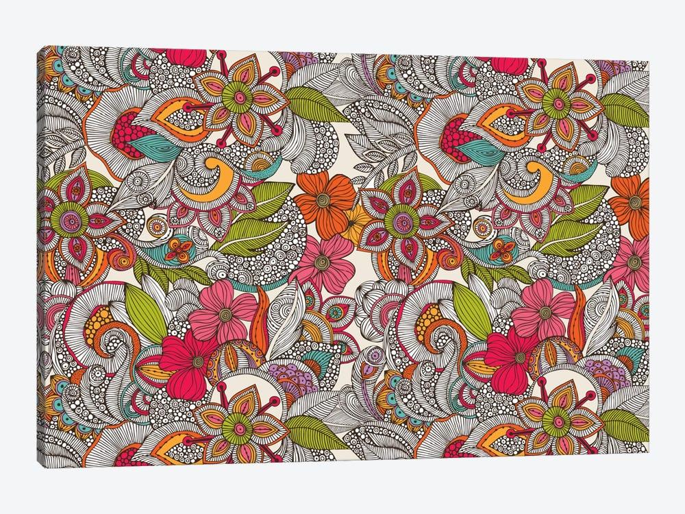 Flower Doodles In Color by Valentina Harper 1-piece Canvas Artwork