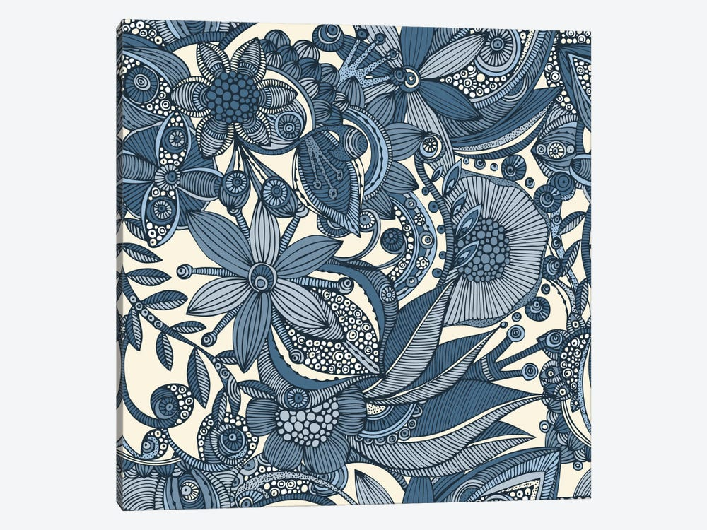 Flowers And Doodles II by Valentina Harper 1-piece Canvas Wall Art