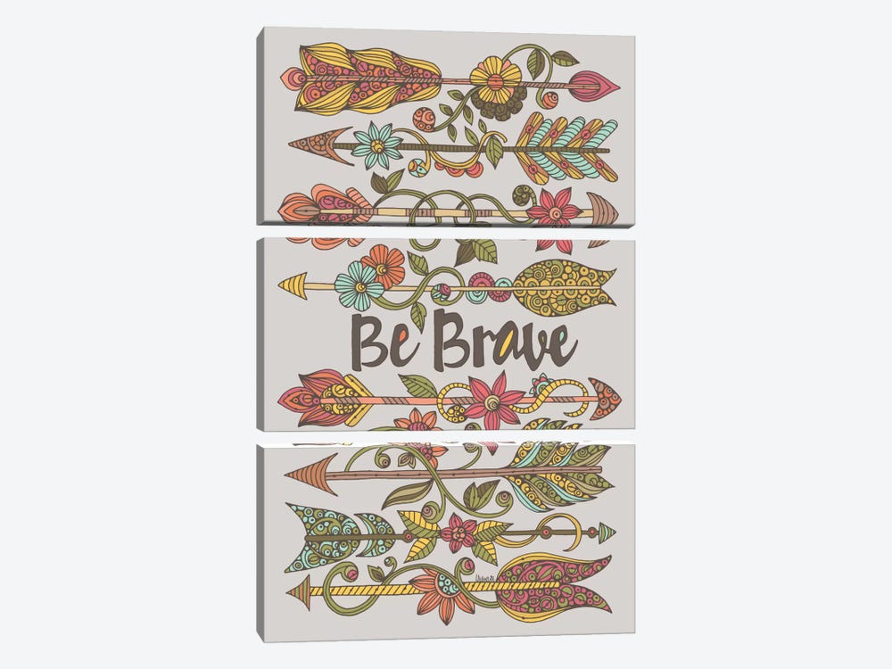 Be Brave II by Valentina Harper 3-piece Canvas Wall Art