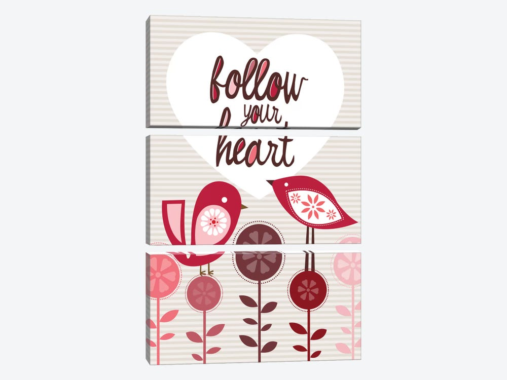 Follow Your Heart by Valentina Harper 3-piece Canvas Art