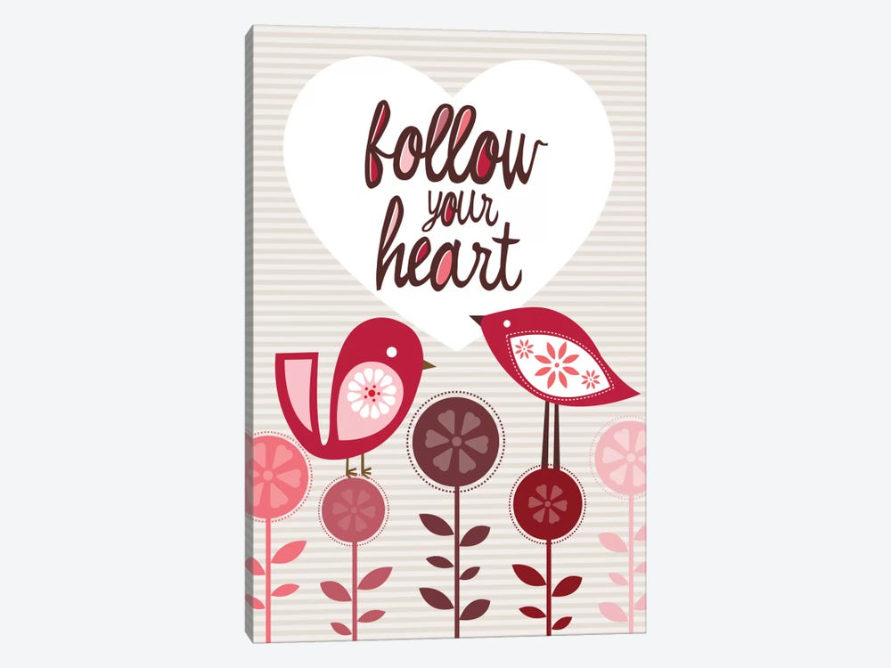 Follow Your Heart by Valentina Harper 1-piece Canvas Artwork