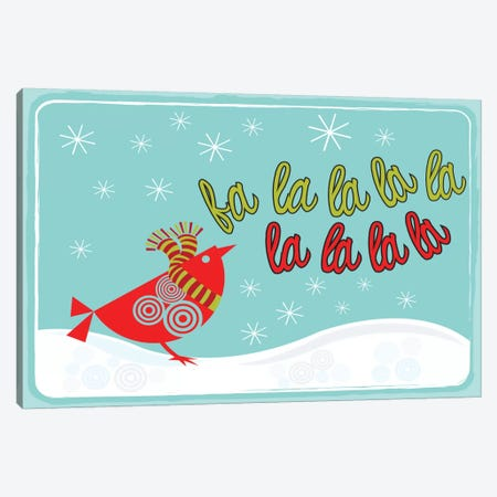 Happy Holidays Canvas Print #VAL185} by Valentina Harper Canvas Art Print
