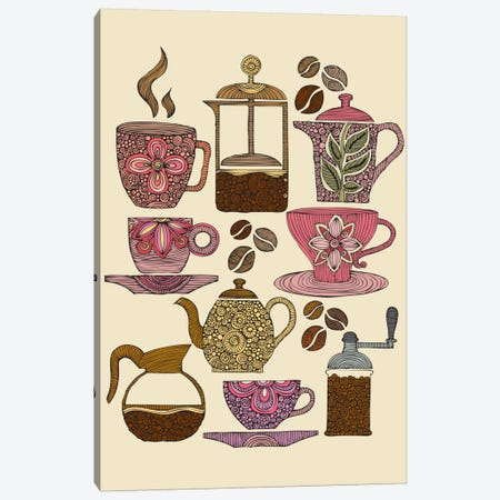 Have Some Coffee Canvas Print #VAL187} by Valentina Harper Canvas Print