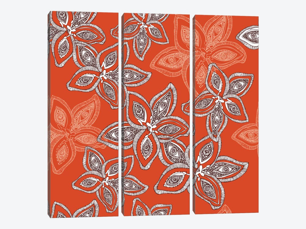 Hawaiian Pattern by Valentina Harper 3-piece Canvas Wall Art