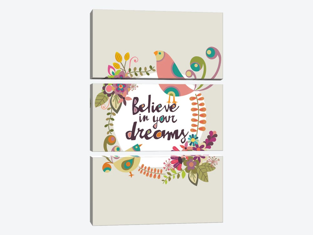 Believe In Your Dreams by Valentina Harper 3-piece Canvas Wall Art