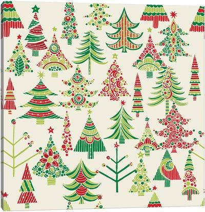 Holiday Tree I Canvas Art Print