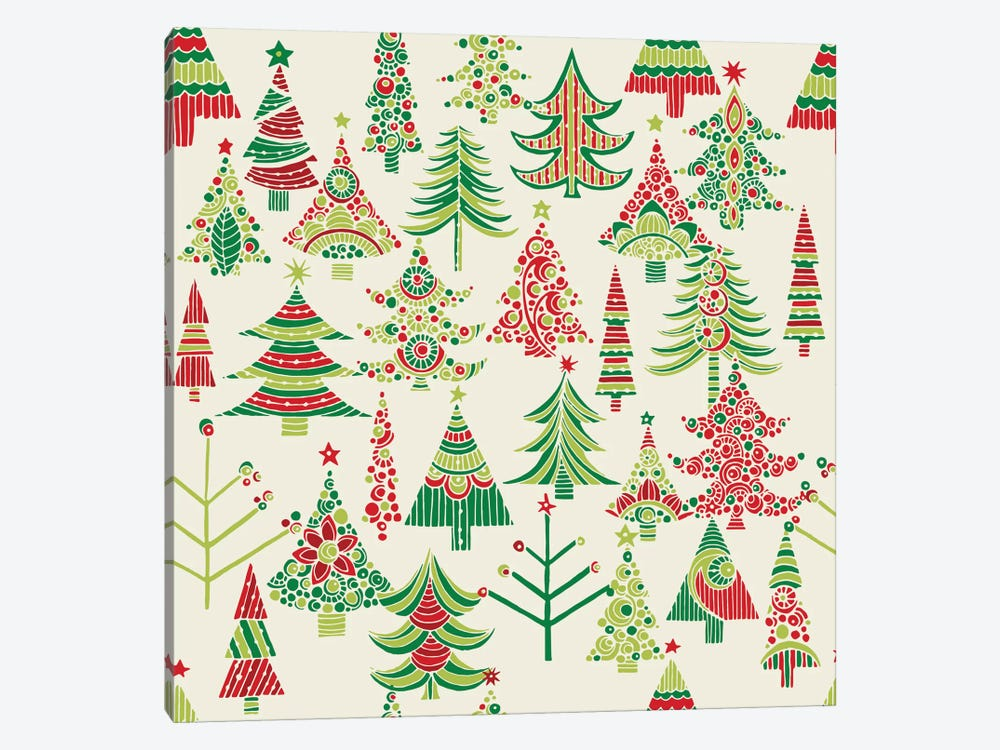 Holiday Tree I by Valentina Harper 1-piece Canvas Art Print
