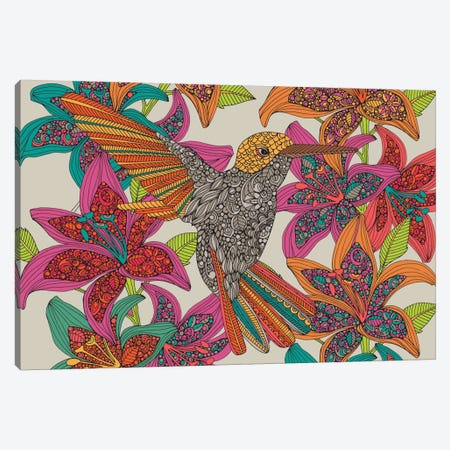 Hummingbird Puzzle II Canvas Print #VAL205} by Valentina Harper Canvas Artwork