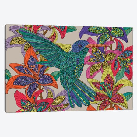 Hummingbird Puzzle III Canvas Print #VAL206} by Valentina Harper Canvas Wall Art