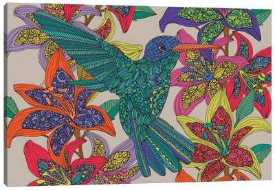 Hummingbird Puzzle III Canvas Art Print