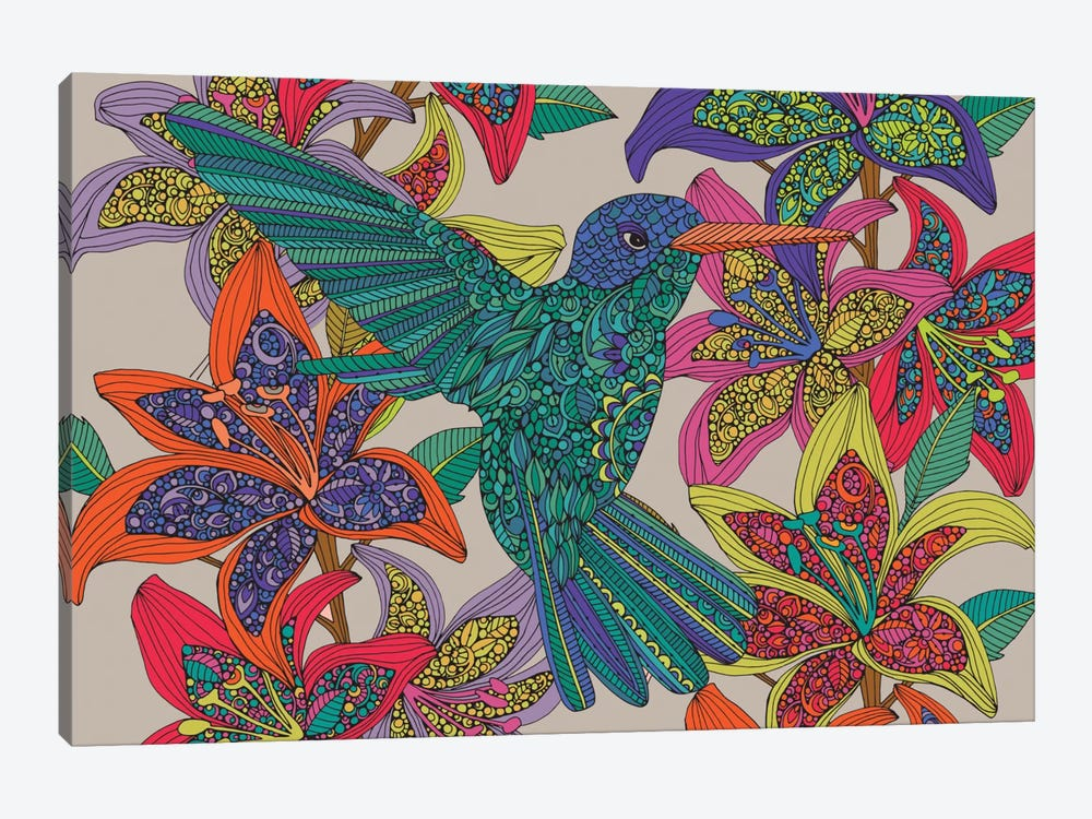 Hummingbird Puzzle III by Valentina Harper 1-piece Canvas Wall Art