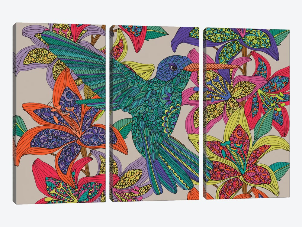 Hummingbird Puzzle III by Valentina Harper 3-piece Canvas Wall Art