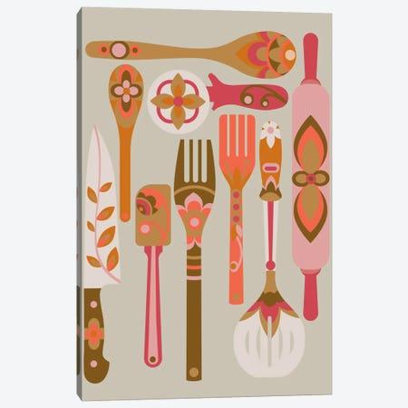 In The Kitchen Canvas Print #VAL217} by Valentina Harper Art Print