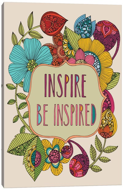 Inspire Be Inspired Canvas Art Print