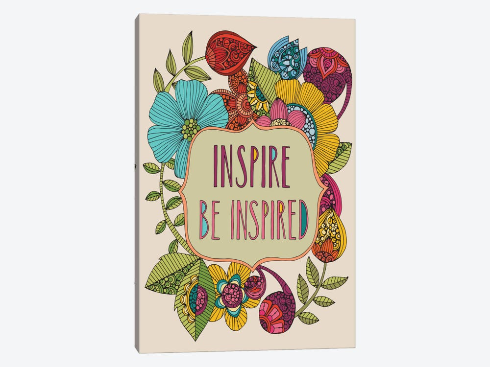 Inspire Be Inspired by Valentina Harper 1-piece Canvas Art
