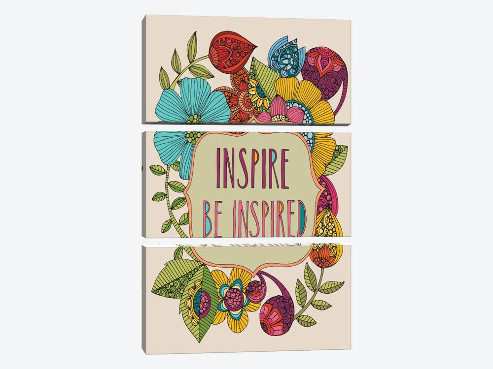 Inspire Be Inspired by Valentina Harper 3-piece Canvas Artwork