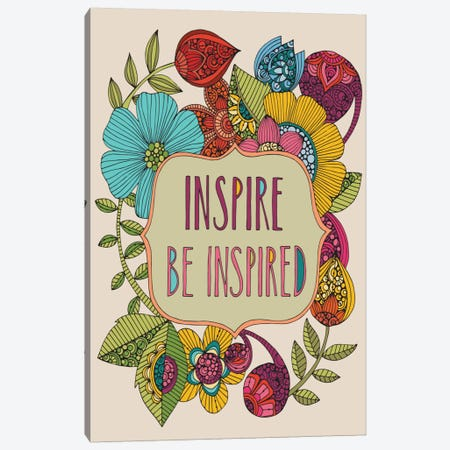 Inspire Be Inspired Canvas Print #VAL219} by Valentina Harper Canvas Art