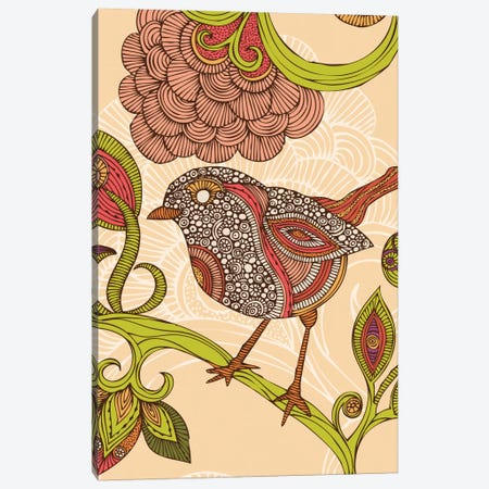 Jill Bird Canvas Print #VAL229} by Valentina Harper Art Print