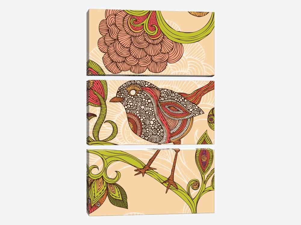 Jill Bird by Valentina Harper 3-piece Canvas Print
